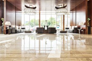 high gloss hotel lobby floor