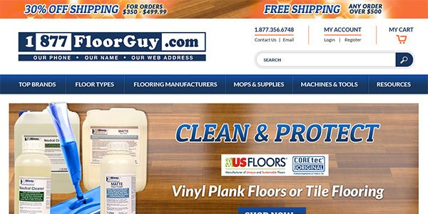 New Website Home Page - 1877FloorGuy.com